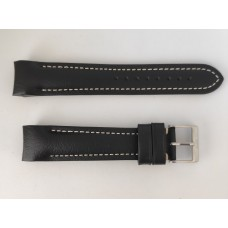 Fortis Leather strap Integrated , black.