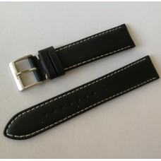 Fortis Leather strap Black 20mm