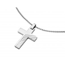 Jos Von Arx Gents Pendant Cross made of Stainless Steel, PEN12