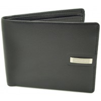 Jos Von Arx Gents Black Leather Wallet, IL01