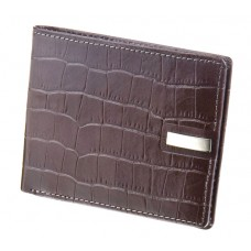 Jos Von Arx gents grey leather wallet, croco imitation, IL08