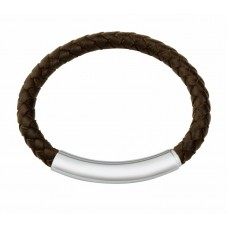 Jos Von Arx Gents Bracelet made of Leather And Stainless Steel, COB02