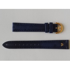Maurice Lacroix Leather Strap Blue Ostrich, 861