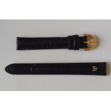 Maurice Lacroix leather Strap Black Ostrich, J16