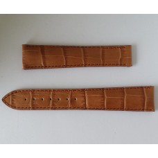 Maurice Lacroix Leather Strap Chestnut Croco imitation