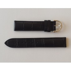 Maurice Lacroix Strap Black Croco imitation, LC1047/LC1077 with steel buckle.